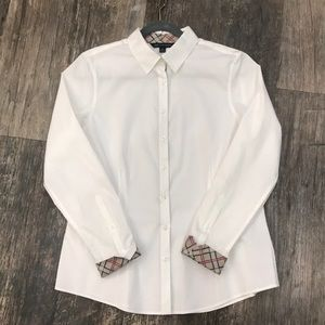 346 Brooks Brothers White & Plaid Button Up